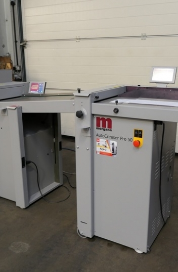 Others  Used other machines Morgana Autocreaser Pro-50 with Autofold Pro for sale - Card Creasing Machine