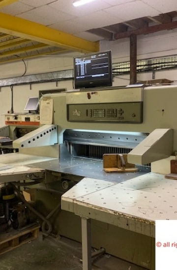 Guillotines  Used finishing machines Used Polar 115 EM-MONITOR paper cutting machine