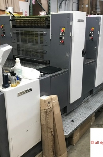 Four colour  Used offset printing machines Shinohara 466-IVP four colour offset with 2+2 perfecting