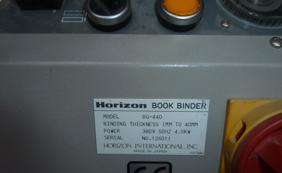 HORIZON BQ 440 PERFECT BINDER