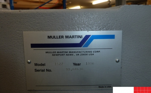 muller martini type 1522 three knife trimmer for sale