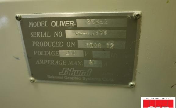 Sakurai Oliver 258E2 two colour offset