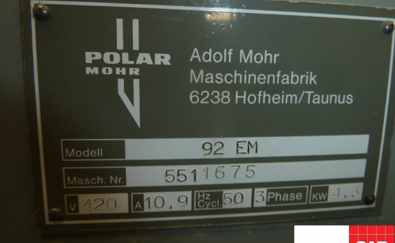 polar 92 em guillotine for sale