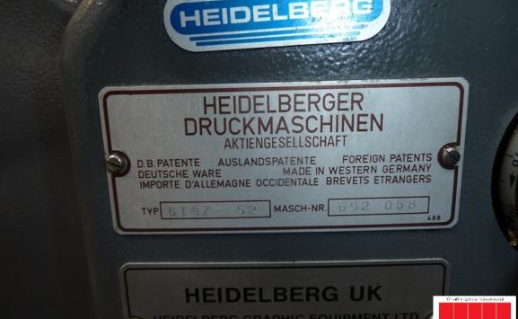 Heidelberg GTO Z 52 two colour offset