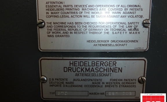 HEIDELBERG GTO 46-1 OFFSET