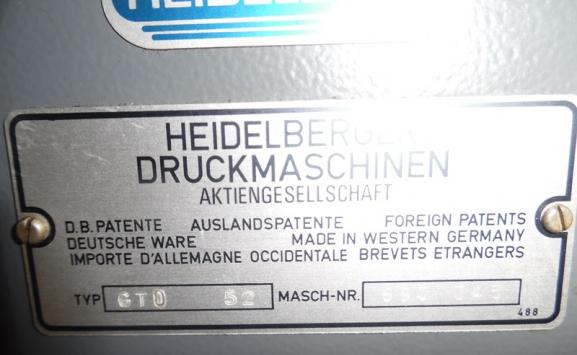 HEIDELBERG GTO52 OFFSET