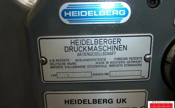 HEIDELBERG GTO 52 SINGLE COLOUR OFFSET