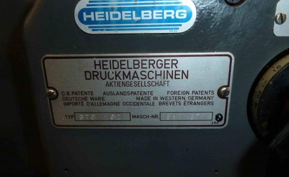 1984 HEIDELBERG GTO52 OFFSET