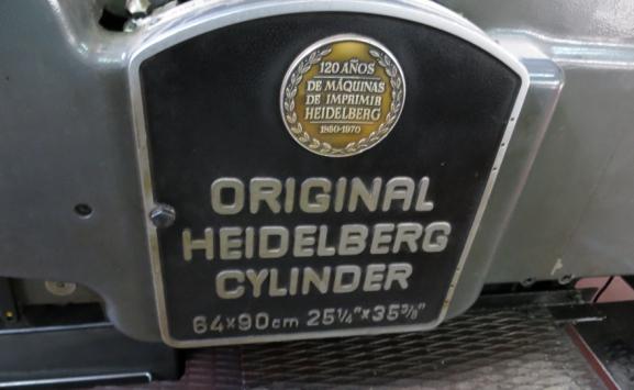 HEIDELBERG SBD CYLINDER