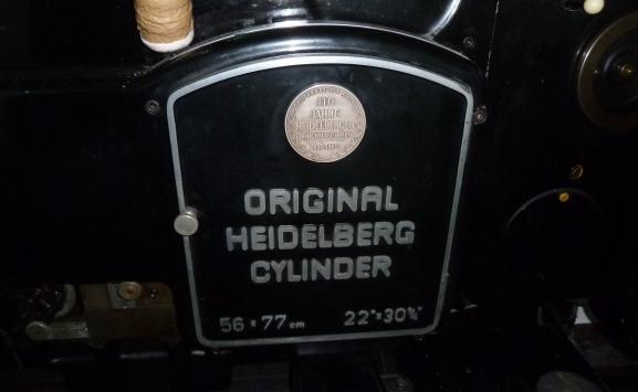 HEIDELBERG SBG CYLINDER (1963)