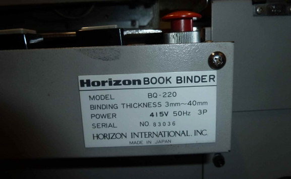 HORIZON BQ200 PERFECT BINDER