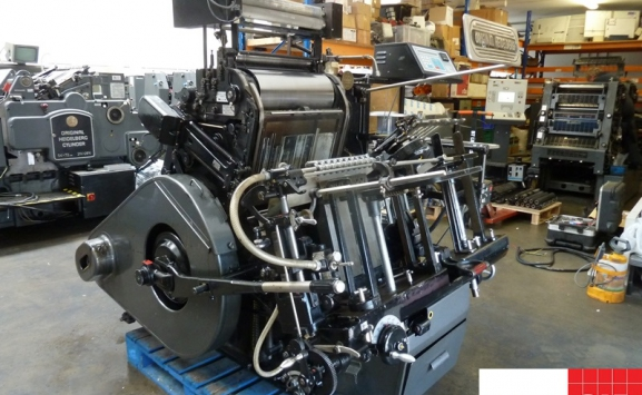 Original Heidelberg GT Platen with hot foil attachment