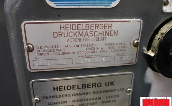 Heidelberg GTO 52 ZP 2 colour offset
