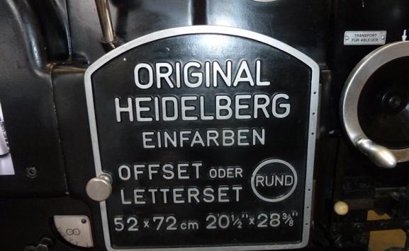 HEIDELBERG KORS SINGLE COLOUR OFFSET