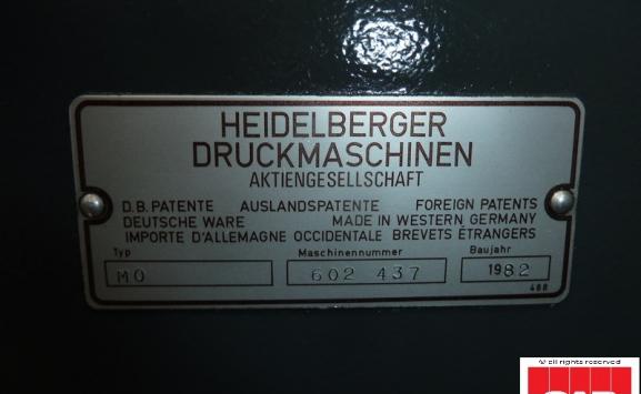 Heidelberg MO-E single colour offset