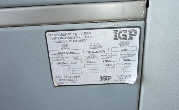 IGP PSB 66 PLATE PROCESSOR