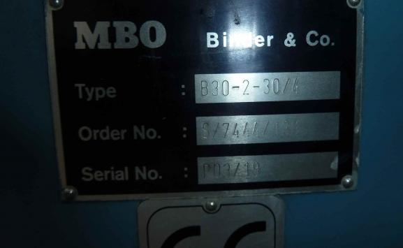 MBO B 30-2 CROSS FOLDING UNIT
