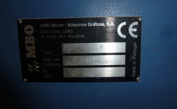 MBO T-530 4-4 FOLDING MACHINE