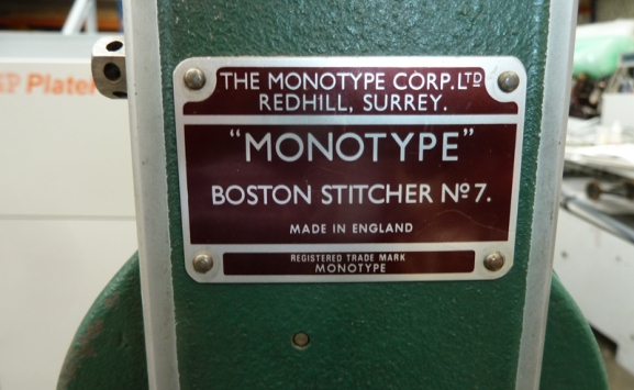 MONOTYPE BOSTON NO 7 WIRE STITCHER
