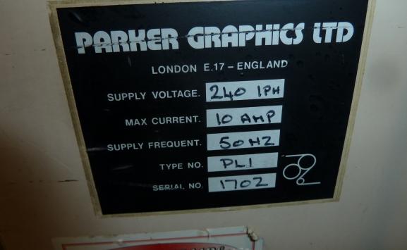 PARKER PL-1 PLATE MAKER