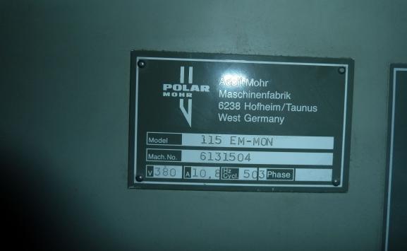 POLAR 115 EM-MON GUILLOTINE