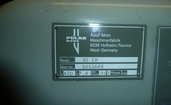 POLAR 92 EM GUILLOTINE