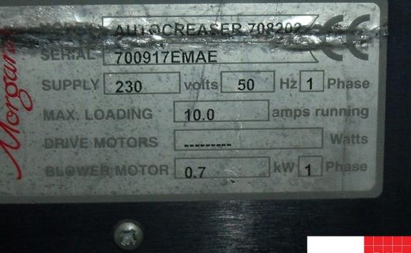 MORGANA AUTOCREASER MK33 CARD CREASING MACHINE