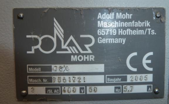 POLAR 78X PAPER GUILLOTINE