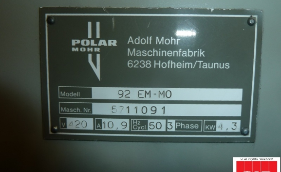 POLAR 92 EM-MON GUILLOTINE FOR SALE