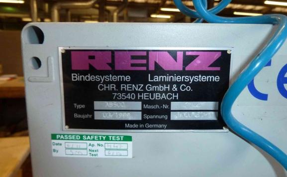 RENZ AUTOBIND 500 WIRE O BINDER
