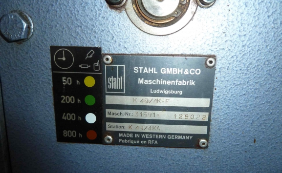 STAHL T49-4X PAPER FOLDING MACHINE