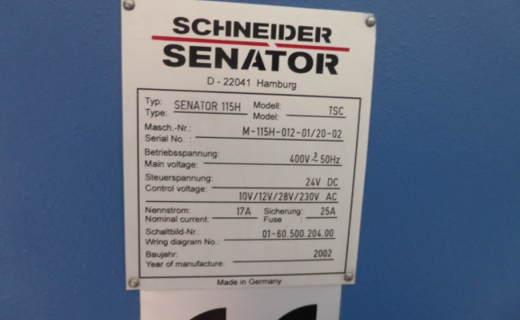 SCHNEIDER 115H-TSC GUILLOTINE FOR SALE