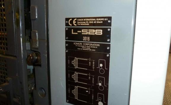 USED KOMORI OFFSET NL528+LX