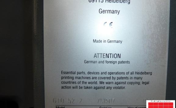HEIDELBERG GTO 52-2 COLOUR OFFSET