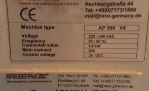 renz ap 360 v4 heavy duty high speed wiro punch
