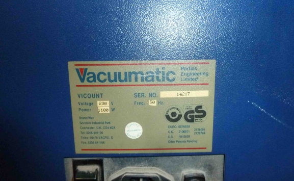 VACCUMATIC VISCOUNT AUTOMATIC PAPER COUNTER