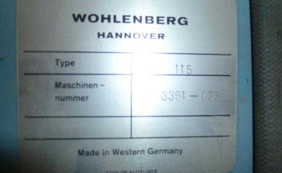 WHOLENBERG 115 MCS-2 TV GUILLOTINE