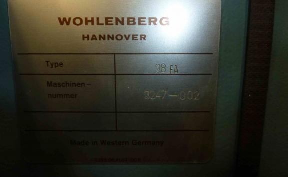 WOHLENBERG TYPE 38FA THREE KNIFE TRIMMER