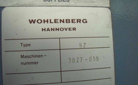 WHOLENBERG 92 GUILLOTINE