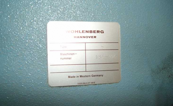 WOHLENBERG 76 SPM GUILLOTINE