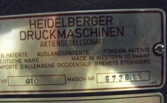 HEIDELBERG GTO 46 FOR SALE