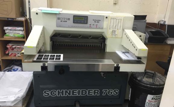 USED PAPER CUTTER - SCHNEIDER 76 S