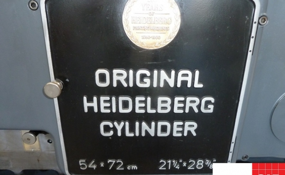 used heidelberg s cylinder die cutter for sale