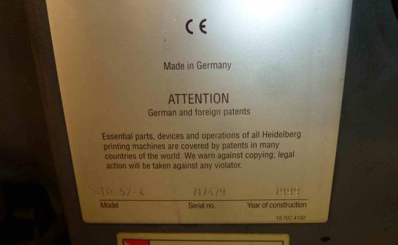 HEIDELBERG GTO 52 -4 FOUR COLOUR OFFSET