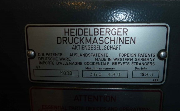 HEIDELBERG KORD 64 OFFSET