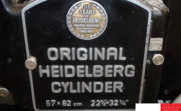 Original Heidelberg SBB Cylinder die cutter