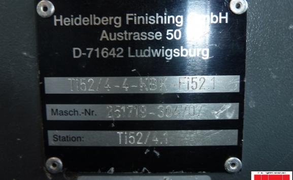 HEIDELBERG STAHL TI 52 4-4 KBK PAPER FOLDER
