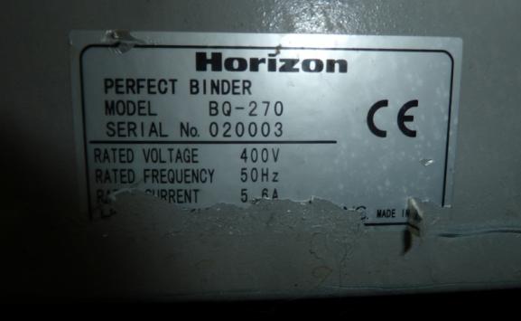 HORIZON BQ 270 PERFECT BINDER
