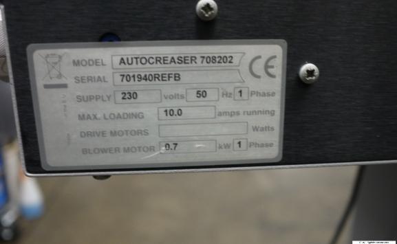 MORGANA AUTOCREASAR MK2 CREASING MACHINE