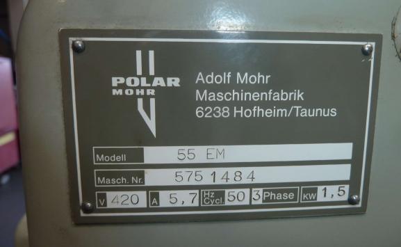 POLAR 55 EM PAPER GUILLOTINE